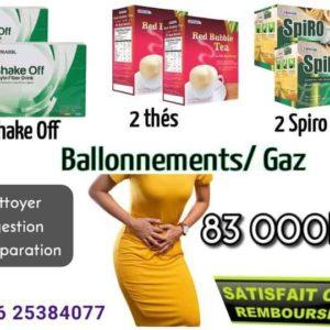 Ballonnements/Gaz dans le ventre traitement avec produits edmark