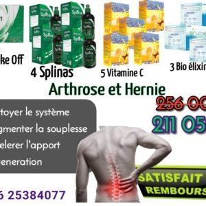 Hernie et arthrose traitement avec EDMARK produits