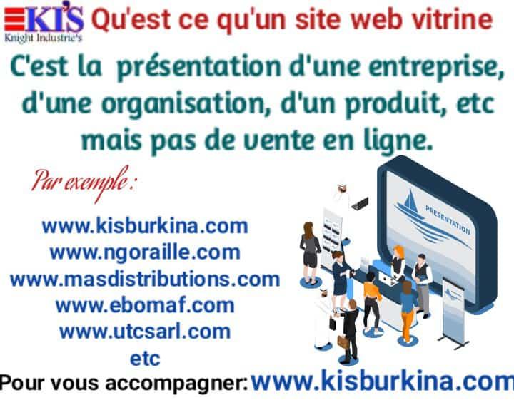 Différents types de site web: site vitrines