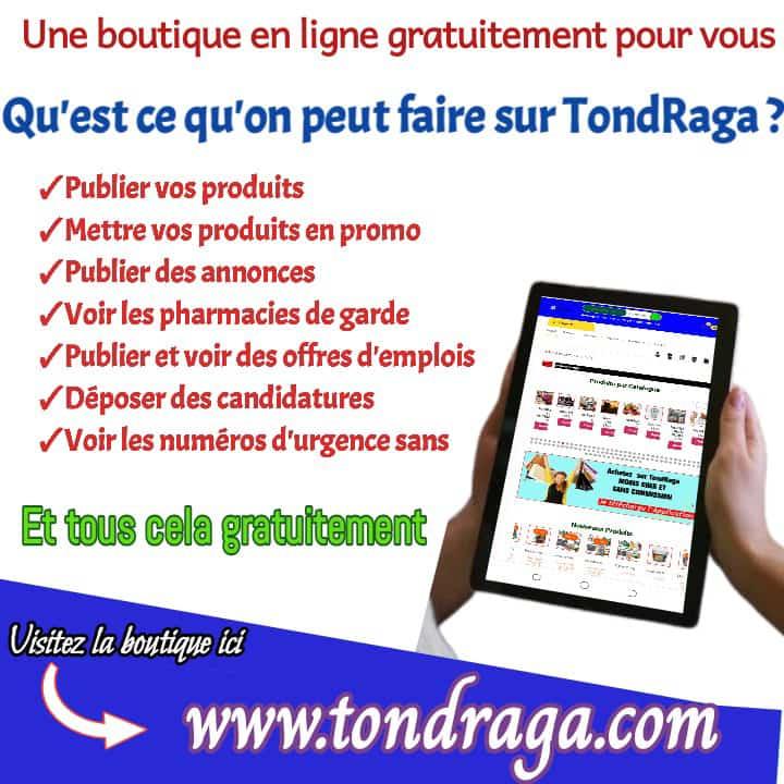 Qu'est-ce qu'on peut faire sur TondRaga