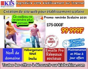 Promo création de site web pour établissement scolaire