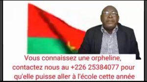Contribution citoyenne a la scolarisation d'une fille burkinabé Burkina Faso rentrée scolaire 2021-2022 ude-afrique
